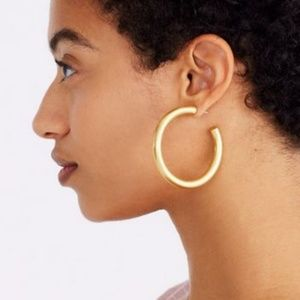 NWOT Madewell Chunky Oversized Hoop Earrings Gold